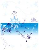 Стилизованная ветвь в сини Стоковые Фото