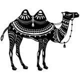 Стилизованная диаграмма декоративного верблюда Стоковая Фотография RF