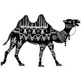 Стилизованная диаграмма декоративного верблюда Стоковые Фотографии RF