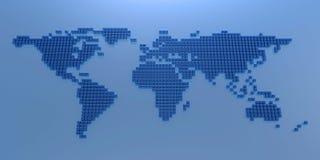 Стилизованная карта мира Стоковые Изображения
