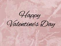 Стилизованная розовая мраморная предпосылка текстуры с счастливой литерностью дня валентинки бесплатная иллюстрация