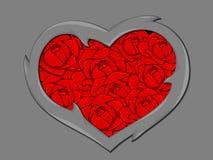 Стилизованное изображение сердца Стоковое Фото