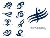 стилизованное логоса установленное Стоковое Изображение