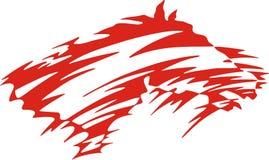 стилизованное лошади красное бесплатная иллюстрация
