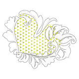 Стилизованное сердце Стоковая Фотография