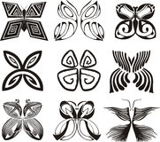 Стилизованные бабочки Стоковые Изображения RF