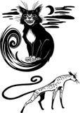 Стилизованные коты - элегантность и грациозно коты. бесплатная иллюстрация