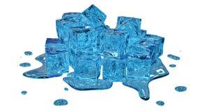 Стилизованные плавя кубики льда стоковые изображения