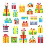 Стилизованные стикеры продажи большой продажи, черной пятницы и дня рождественских подарков Набор искусства попа нарисованный вру иллюстрация вектора