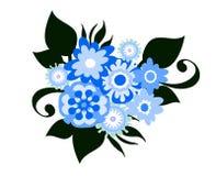 Стилизованные цветки Стоковые Фотографии RF