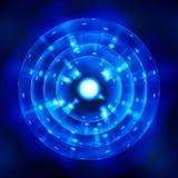 стилизованный голубой символ атома иллюстрация вектора