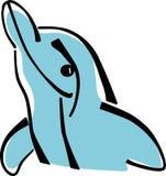 Стилизованный дельфин Стоковые Изображения