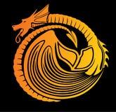 Стилизованный дракон огня иллюстрация штока