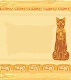 Стилизованный египетский кот Стоковое фото RF