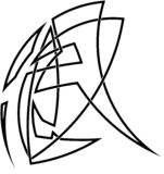 Стилизованный кельтский узел Стоковая Фотография