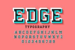 Стилизованный красочный шрифт 3d иллюстрация штока