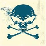 Стилизованный людской череп Стоковое Изображение RF
