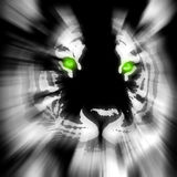 стилизованный тигр Стоковое Изображение RF