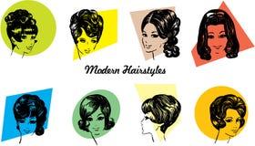 стили причёсок 1960s Стоковые Изображения