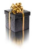 Стильная черная присутствующая коробка Стоковое Фото