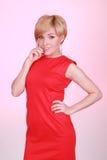 стильное девушки красное Стоковое фото RF