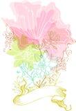 стильное предпосылки флористическое Стоковое Изображение RF