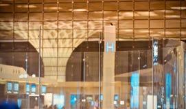 Стильное стекло сделало фотоснимок внутреннего художественного оформления стоковое фото rf