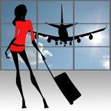 стильные женщины путешественника Стоковая Фотография