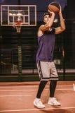 Стильный баскетболист Стоковое Фото
