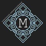 Стильный грациозно вензель, элегантная линия дизайн логотипа искусства в стиле Nouveau искусства иллюстрация штока