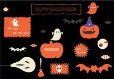 Стильный комплект значка хеллоуина иллюстрация вектора