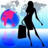 стильный мир женщин перемещения Стоковая Фотография RF