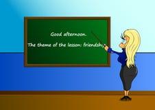 Стильный учитель хороший учитель иллюстрация штока