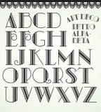 стиль Арт Деко алфавита стоковое изображение