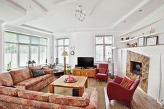 стиль Арт Деко рисуя нутряной самомоднейший тип комнаты Стоковая Фотография