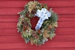 Стиль венка 1 рождества Нью-Хэмпширский Стоковые Фото