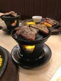 Стиль гриля стейка обедающего японский стоковая фотография rf