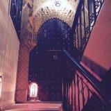 Стиль двери Marrakech аравийский стоковые изображения rf
