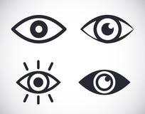Стиль дизайна иллюстрации символа значков глаза плоский иллюстрация штока