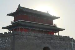 Стиль замка старой китайской архитектуры Стоковое фото RF