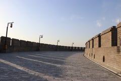 Стиль замка старой китайской архитектуры Стоковое Изображение RF
