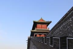 Стиль замка старой китайской архитектуры Стоковая Фотография