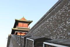 Стиль замка старой китайской архитектуры Стоковые Изображения