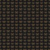 Стиль золота картины конфеты рождества безшовный на черной предпосылке Стоковое Фото