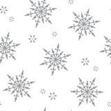 Стиль картины снежинки винтажный - seamles конструируют бумагу бесплатная иллюстрация