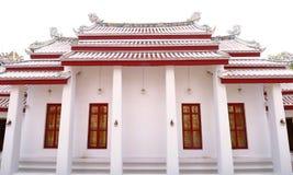 Стиль крыши цвета древнего храма старый китайский Multi в виске Таиланда Стоковое фото RF