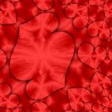 Стиль мозаики сердец влюбленности, карточка дня валентинок Стоковое фото RF