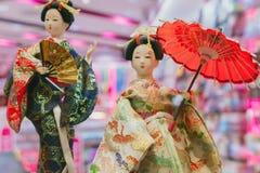 Стиль платья Японии культуры японских кукол гейши традиционный стоковые фото