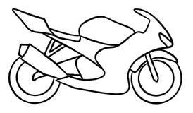 Стиль притяжки руки новой иллюстрации мотоцикла для книжка-раскраски стоковое изображение
