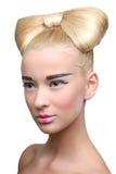 стиль причёсок красотки стоковое изображение